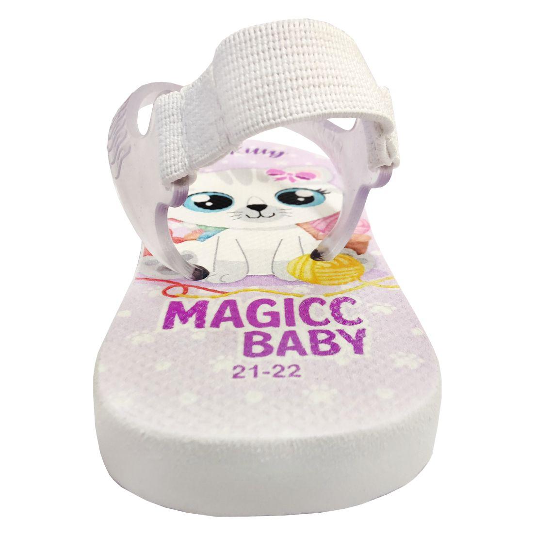 Chinelo Menina Bebê Sandália Gatinha Charmosa Magicc Baby