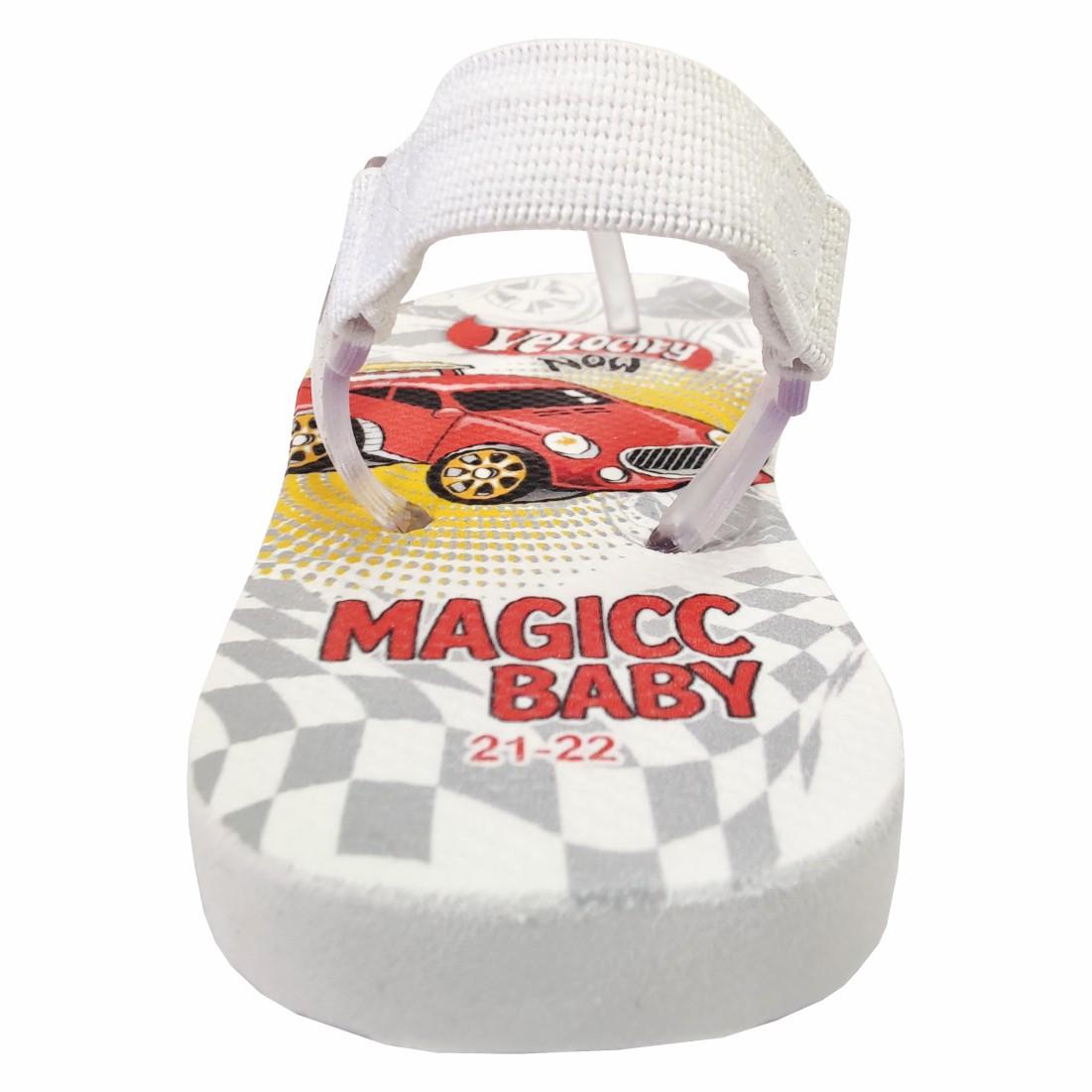 Chinelo Bebê Sandália Infantil Carrinho Meninos Magicc Baby