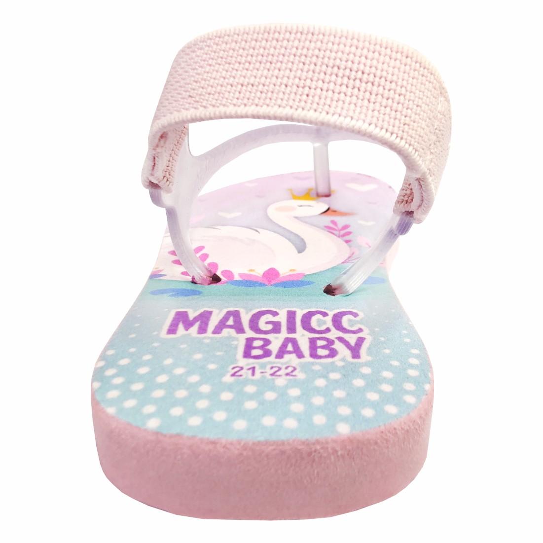 Chinelo Bebê Sandália Infantil Cisnes Meninas Magicc Baby