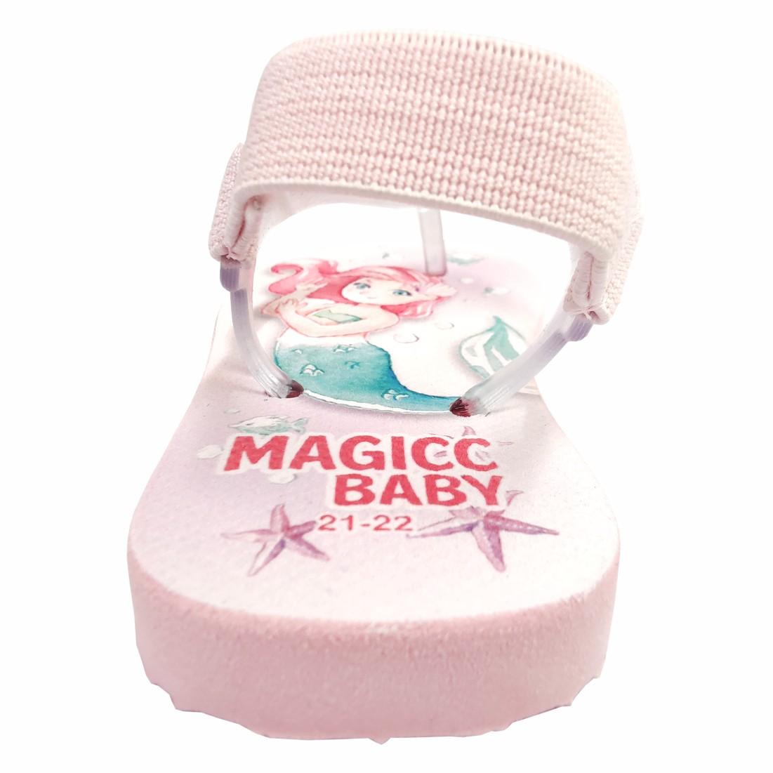 Chinelo Bebê Sandália Infantil Sereia Meninas Magicc Baby