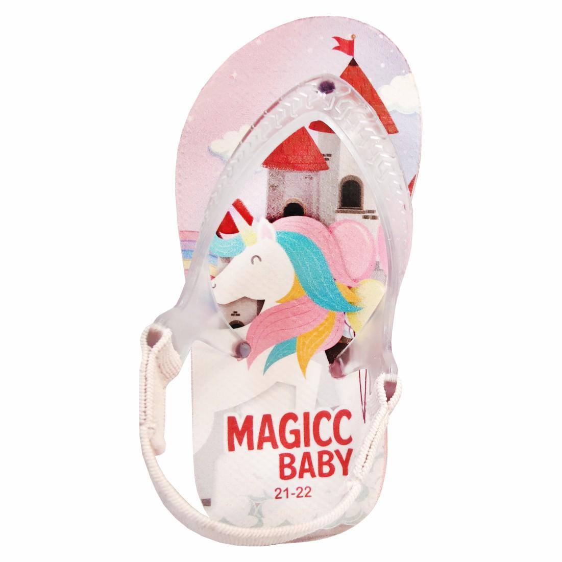 Chinelo Bebê Sandália Infantil Unicórnio Meninas Magicc Baby
