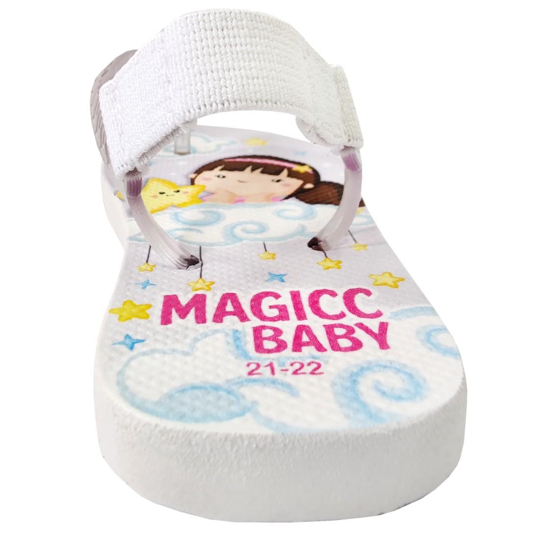 Chinelo Menina Bebê Sandália Menininha Estrela Magicc Baby