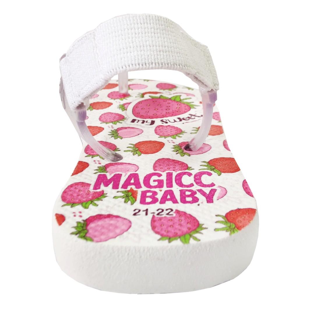 Chinelo Menina Bebê Sandália Moranguinhos Magicc Baby