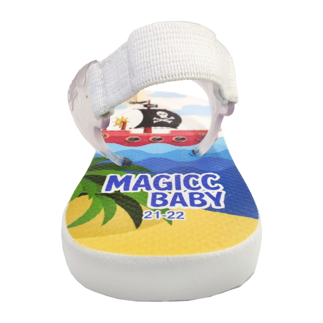 Chinelo Menino Bebê Sandália Navio Pirata Magicc Baby
