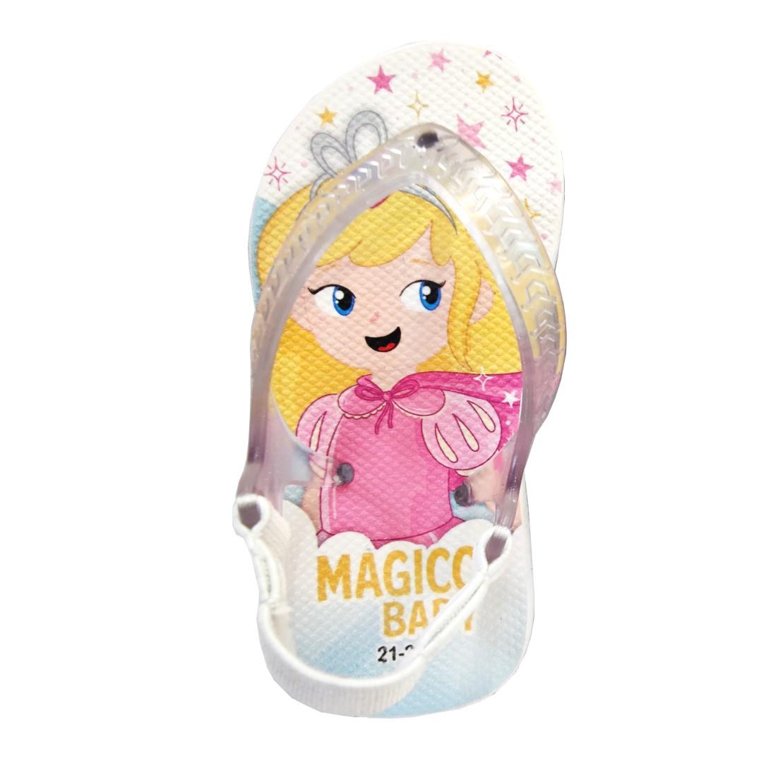 Chinelo Menina Bebê Sandália Princesa Estrelinhas Magicc Baby