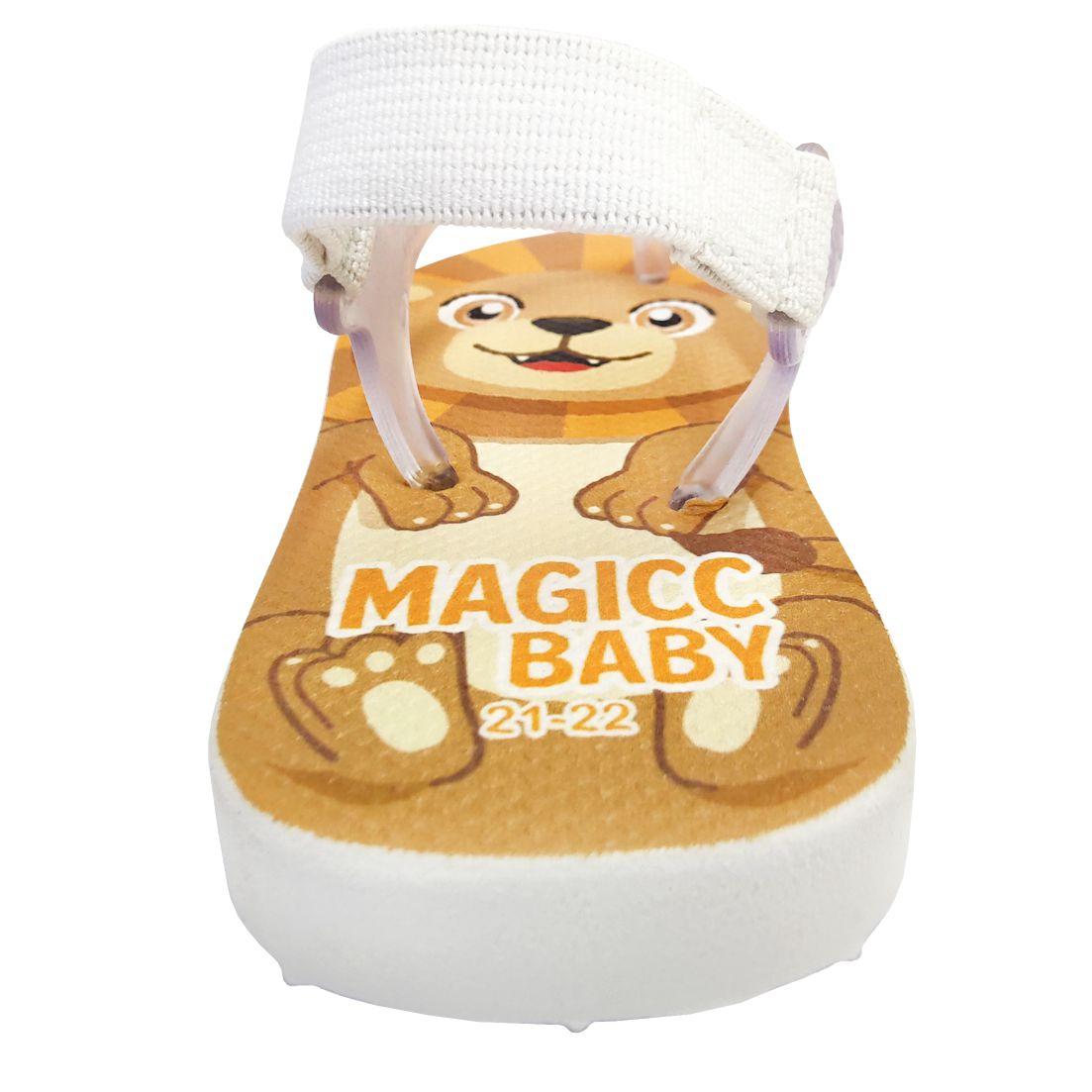Chinelo Menino Bebê Sandália Leãozinho Magicc Baby