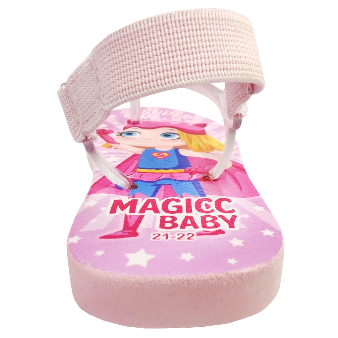Chinelo Menina Bebê Sandália Super Girl Magicc Baby
