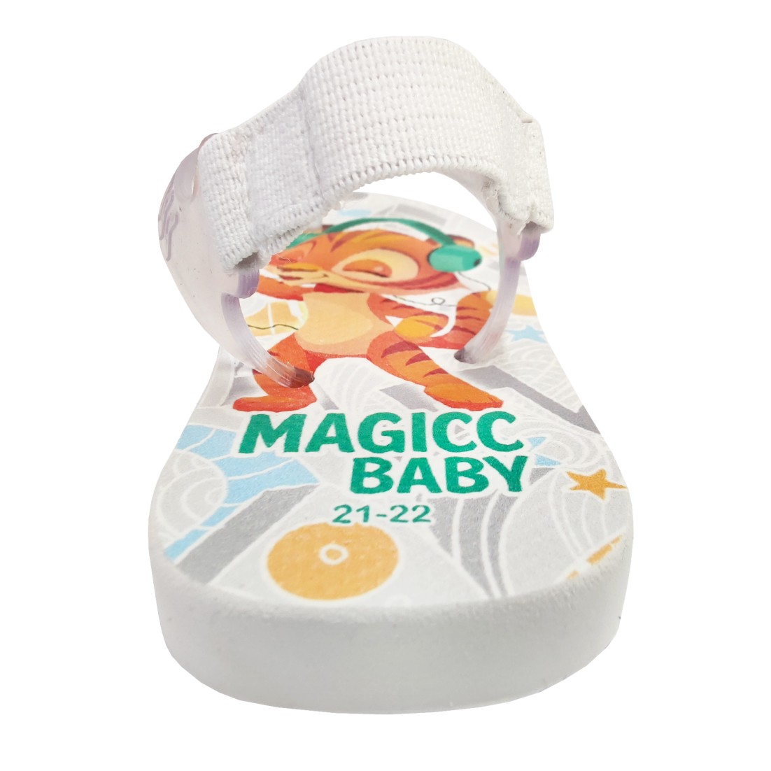 Chinelo Menino Bebê Sandália Tigre Fone de Ouvido Magicc Baby