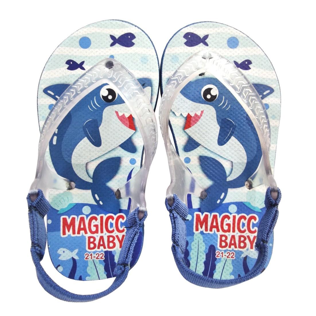 Chinelo Menino Bebê Sandália Tubarão Magicc Baby
