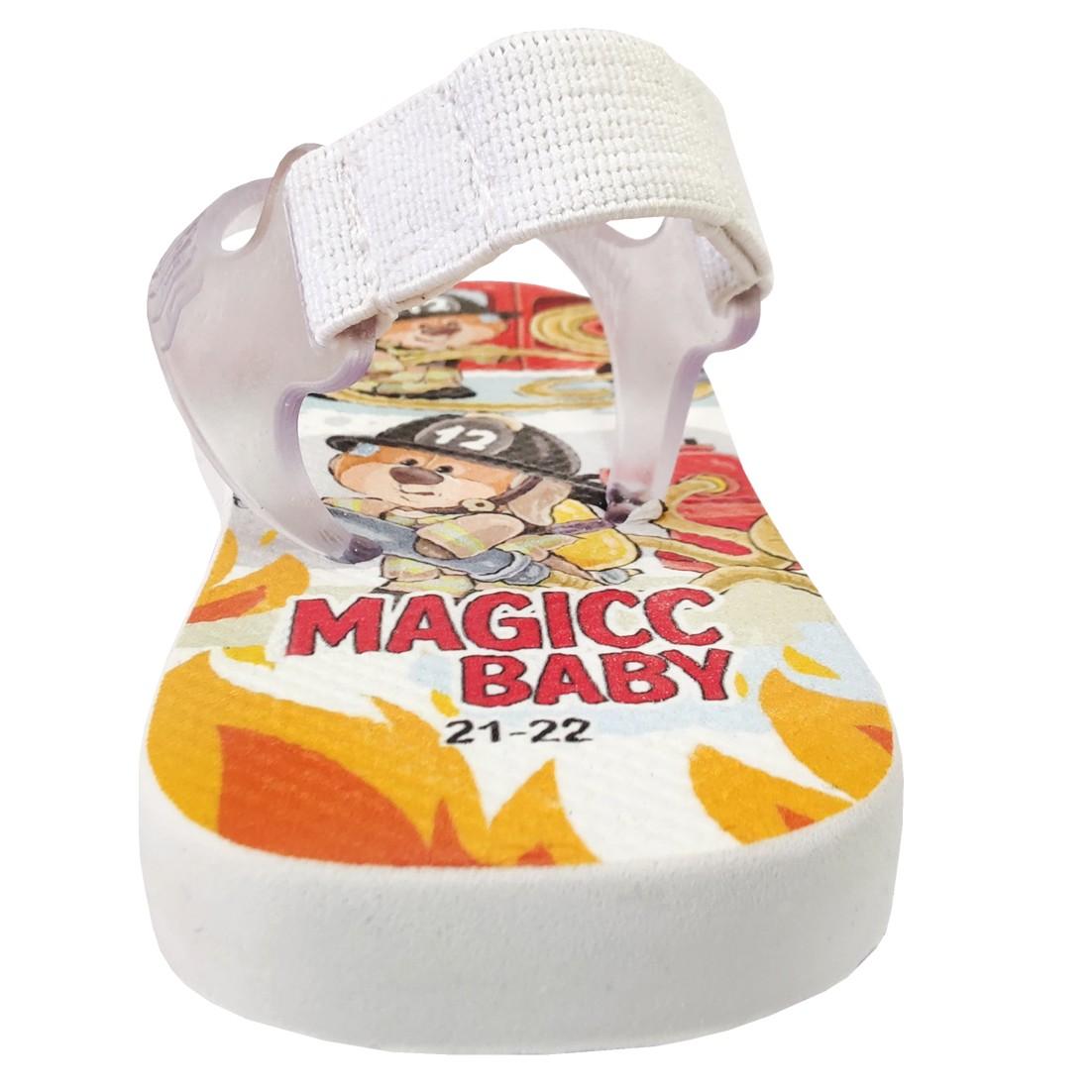 Chinelo Menino Bebê Sandália Ursinho Bombeiro Magicc Baby