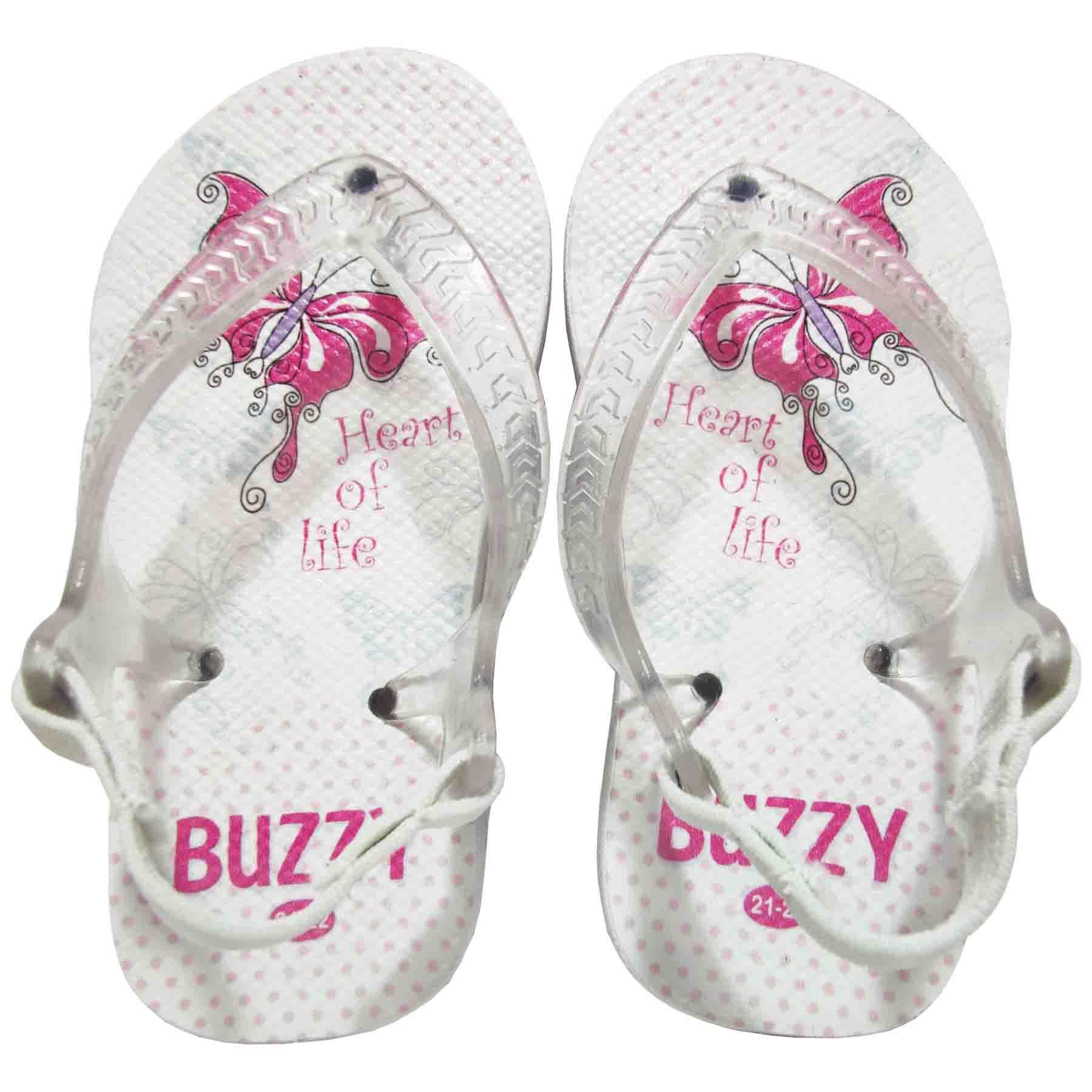 Chinelo Bebê Buzzy Sandália Infantil Borboleta Meninas BZ018