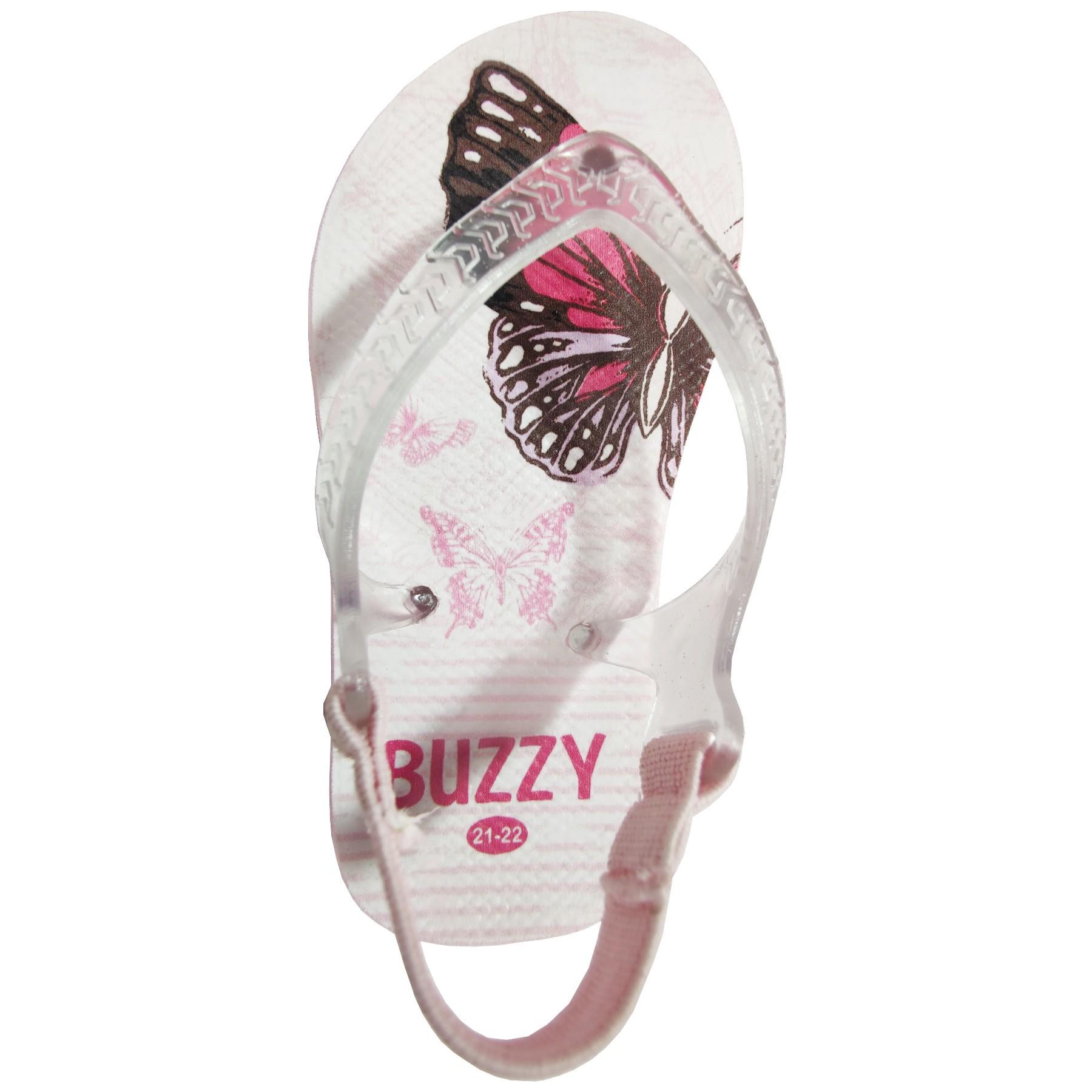 Chinelo Bebê Buzzy Sandália Infantil Borboleta Meninas BZ022