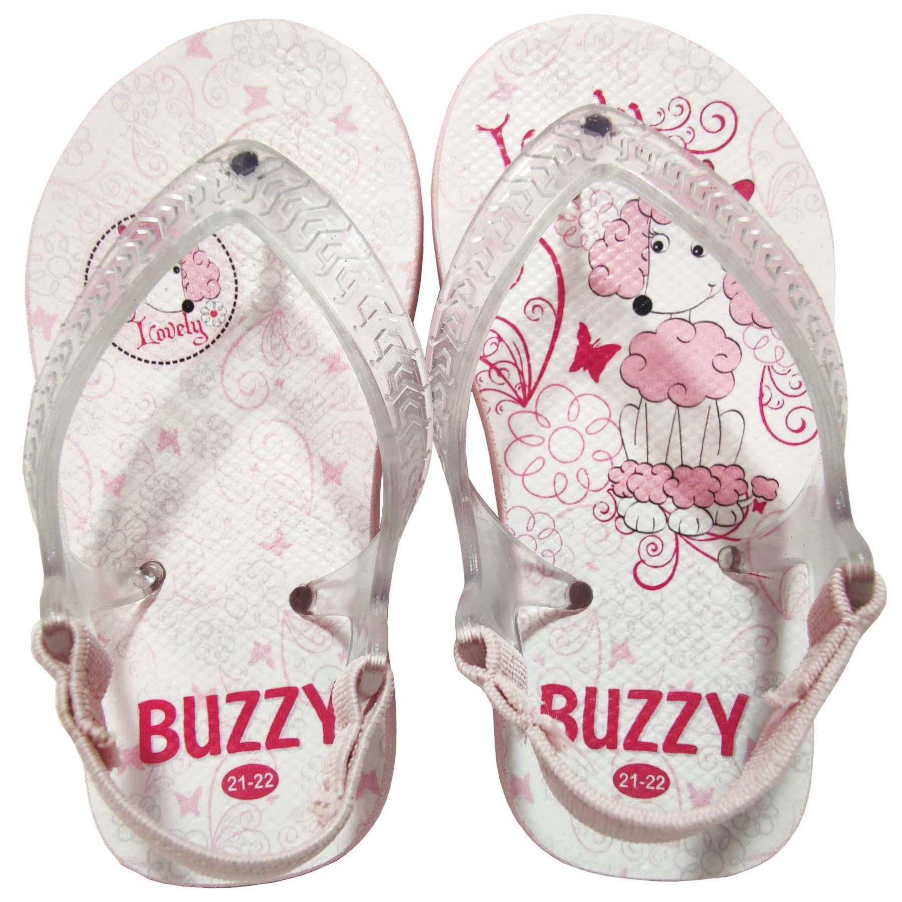 Chinelo Bebê Buzzy Sandália Infantil Cachorrinho Menina BZ21