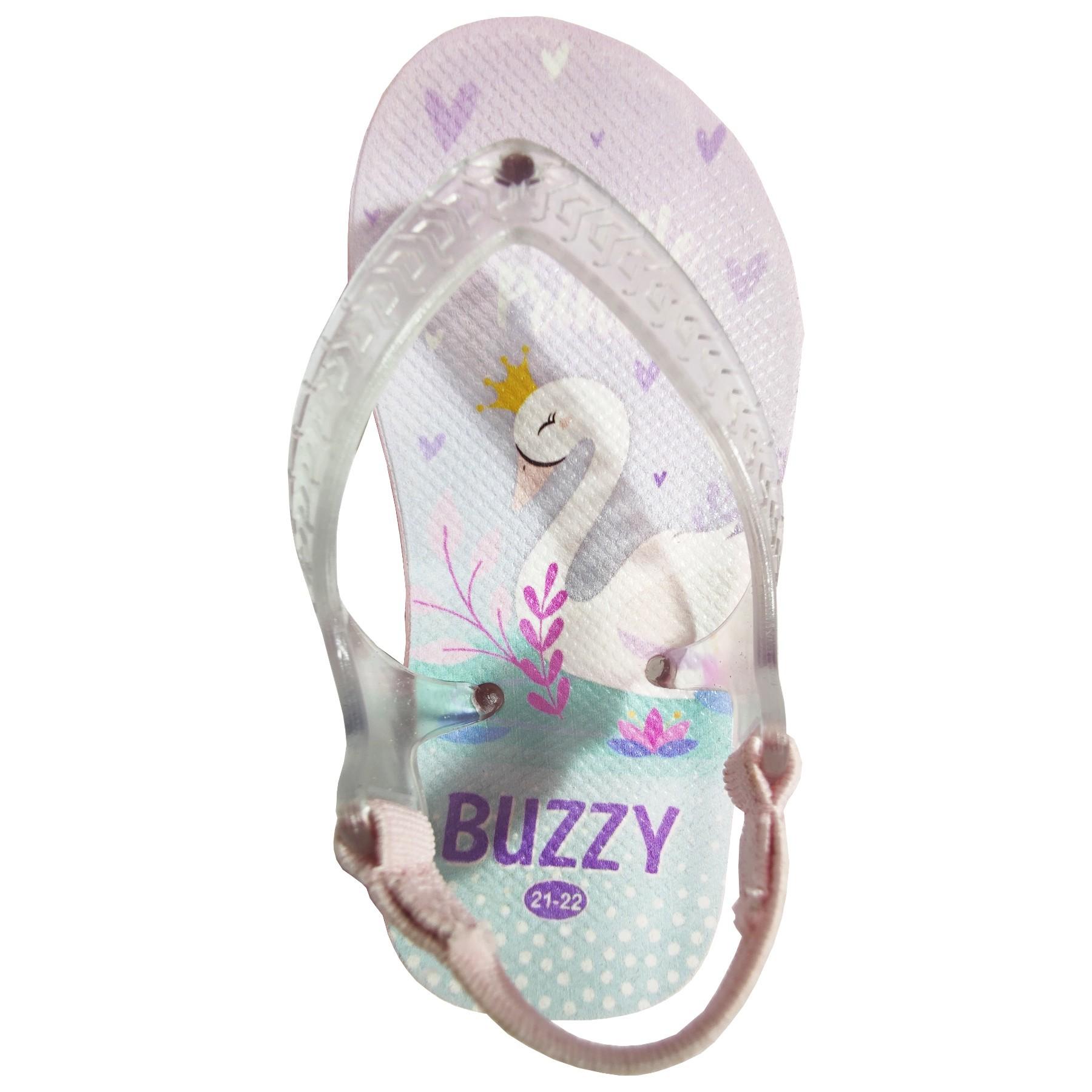 Chinelo Bebê Buzzy Sandália Infantil Cisnes Meninas
