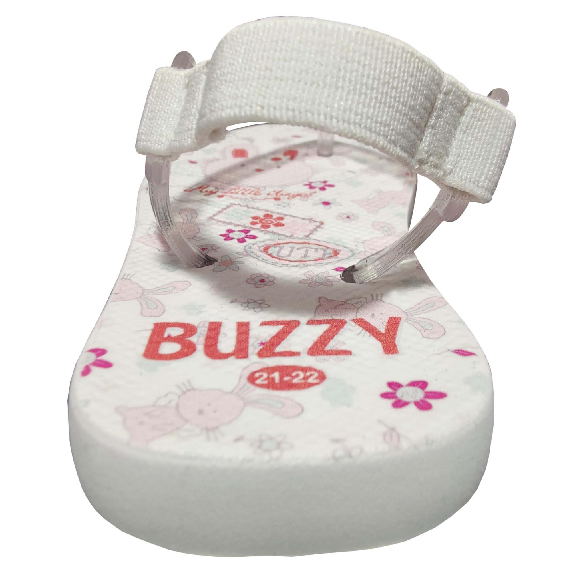 Chinelo Buzzy Sandália Infantil Coelhinho Bebê Meninas