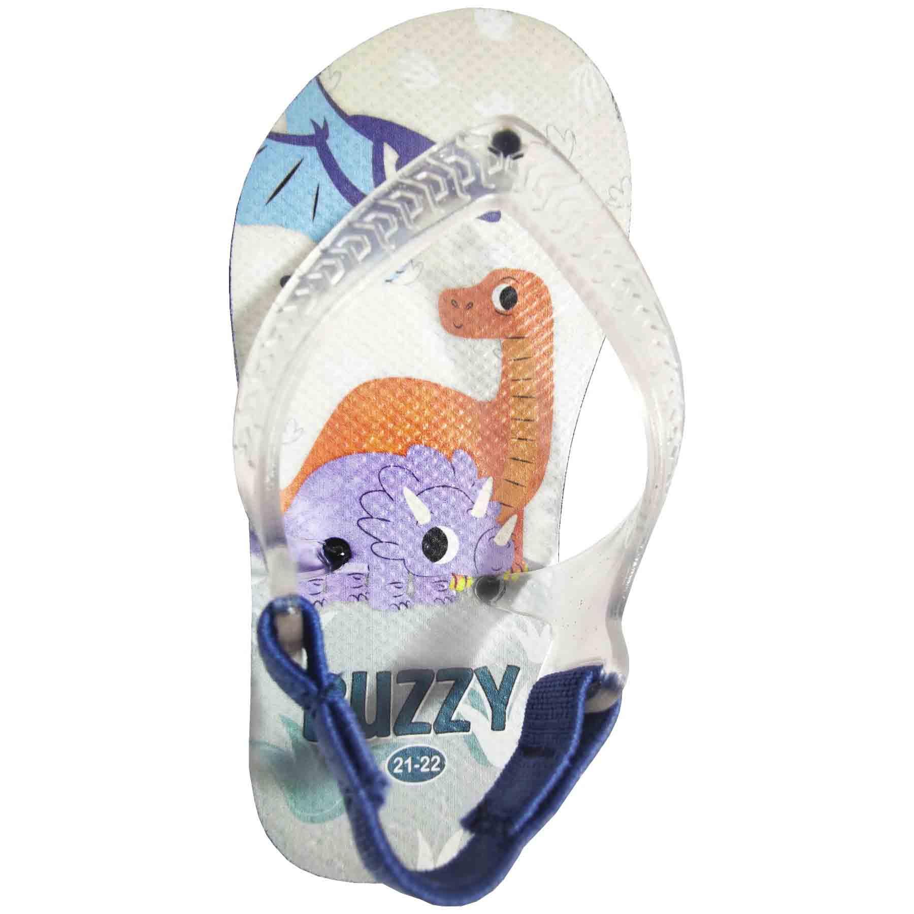 Chinelo Bebê Buzzy Sandália Infantil Dinos Meninos BZ010