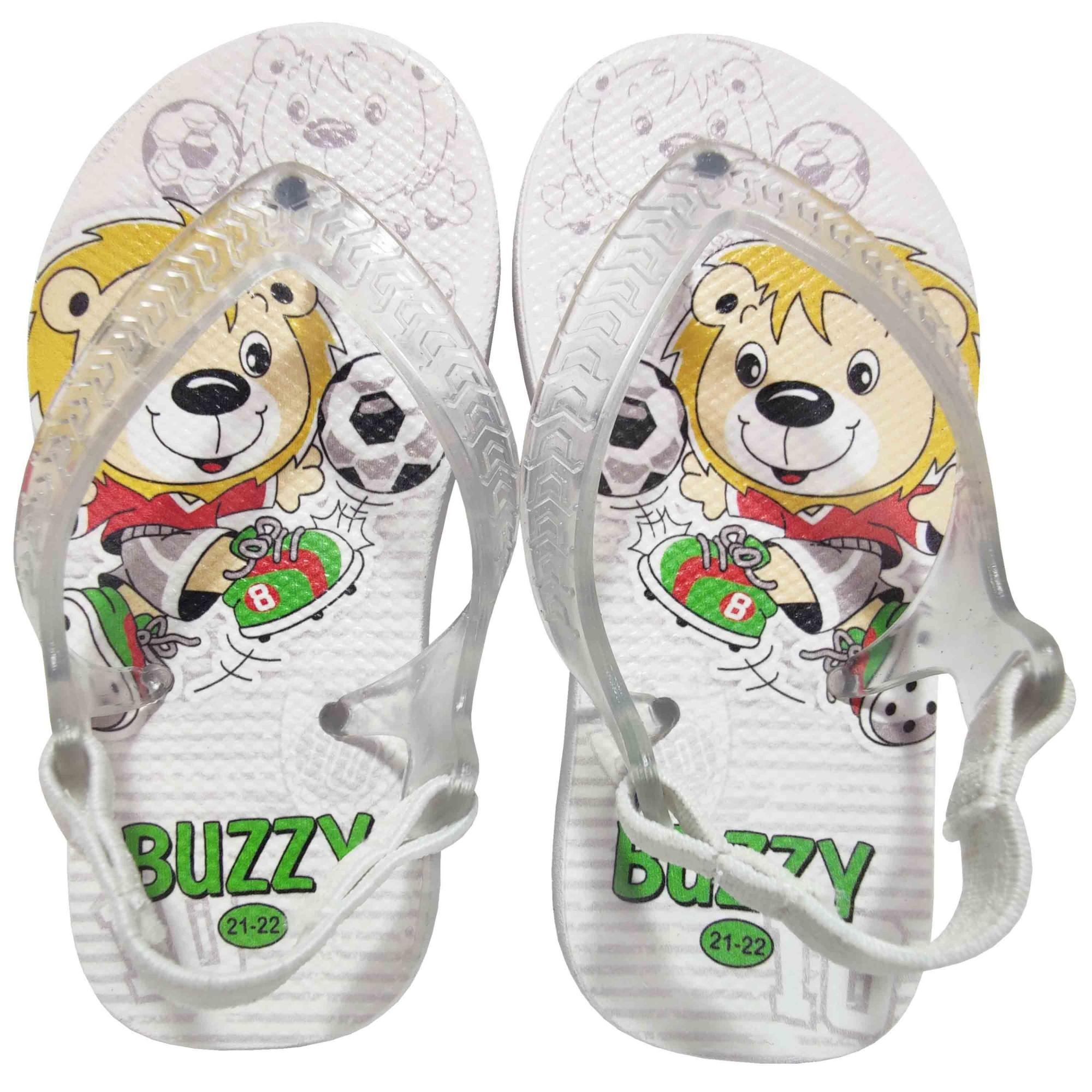 Chinelo Buzzy Sandália Infantil Futebol Bebês Meninos BZ013