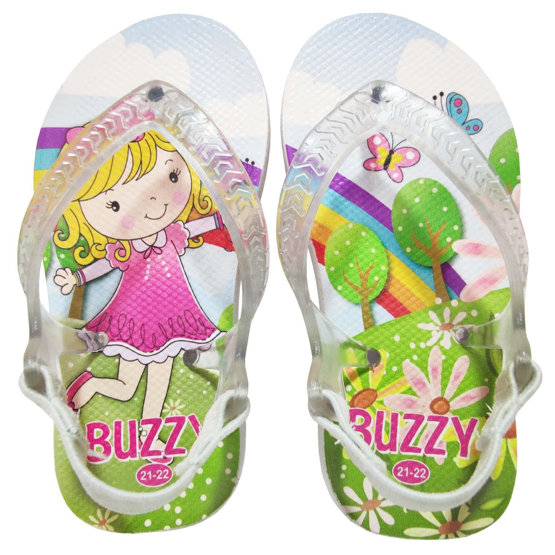 Chinelo Bebê Buzzy Sandália Infantil Menininha Meninas BZ025