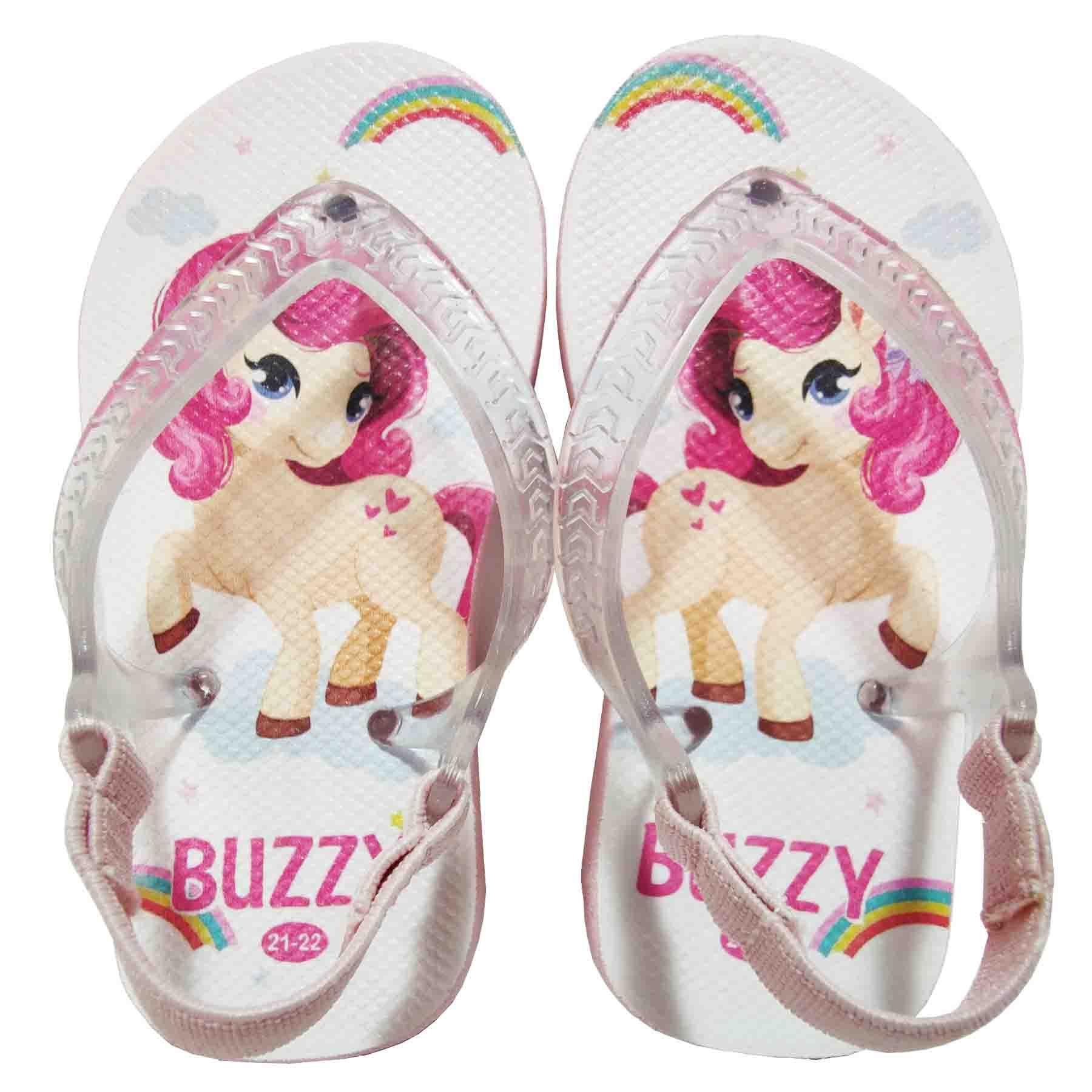 Chinelo Bebê Buzzy Sandália Infantil Pônei Meninas BZ020