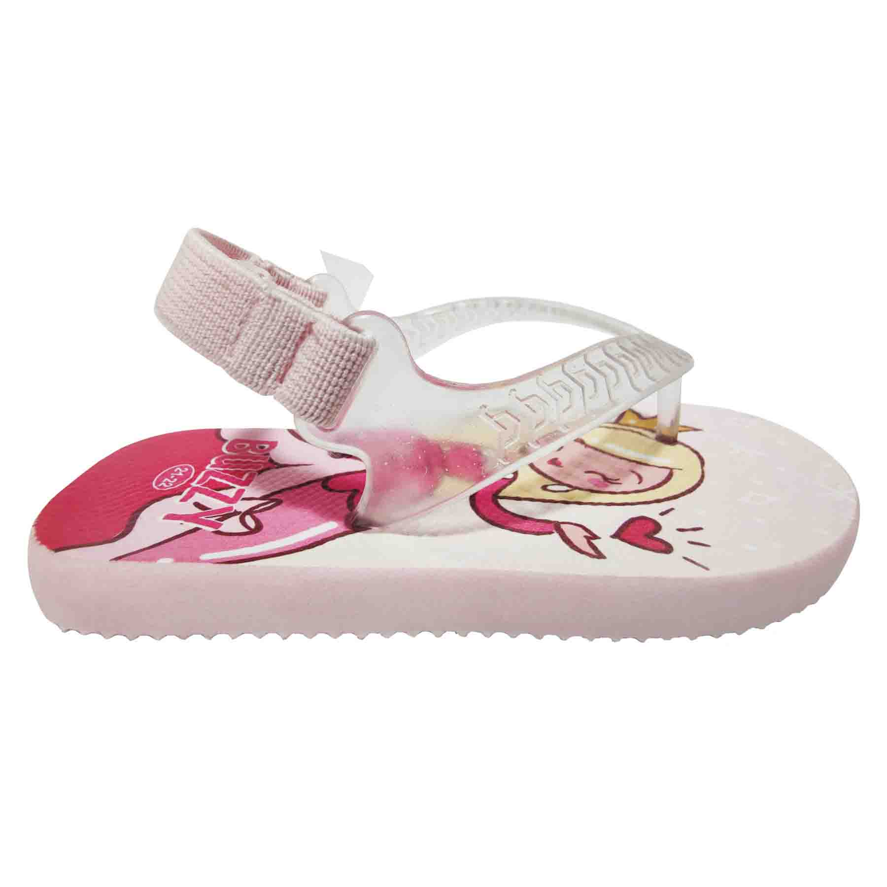 Chinelo Bebê Buzzy Sandália Infantil Princesa Meninas BZ017
