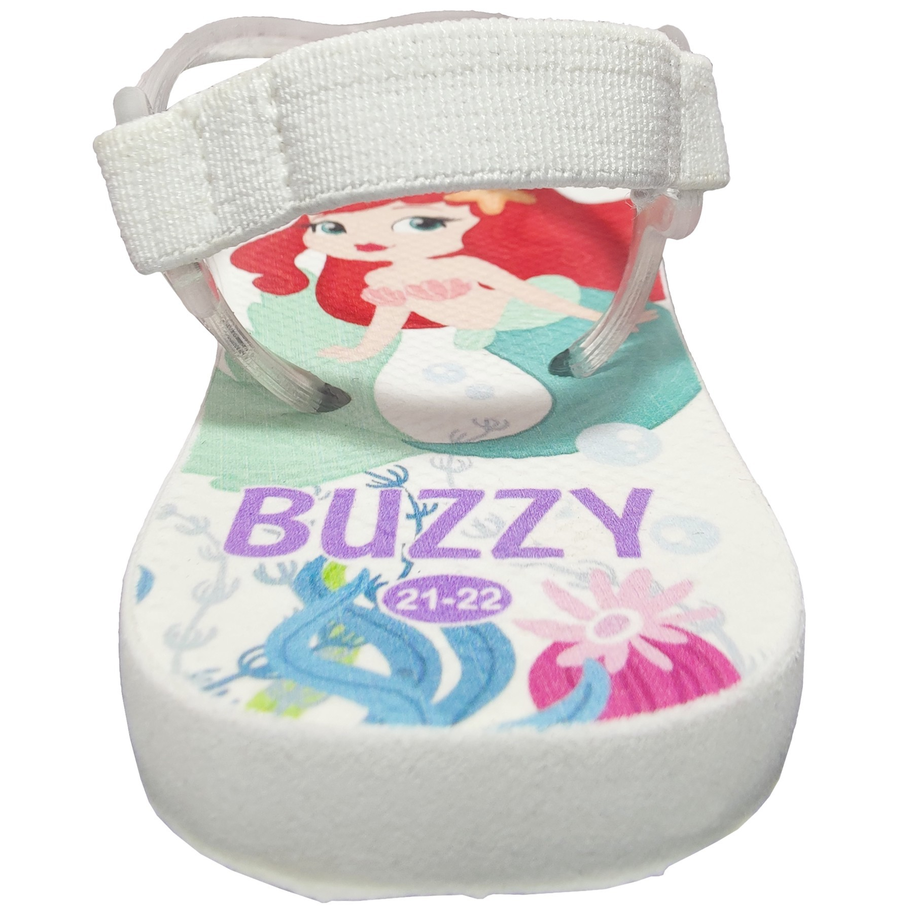 Chinelo Bebê Buzzy Sandália Infantil Sereia Fofa Bebê Menina BZ28
