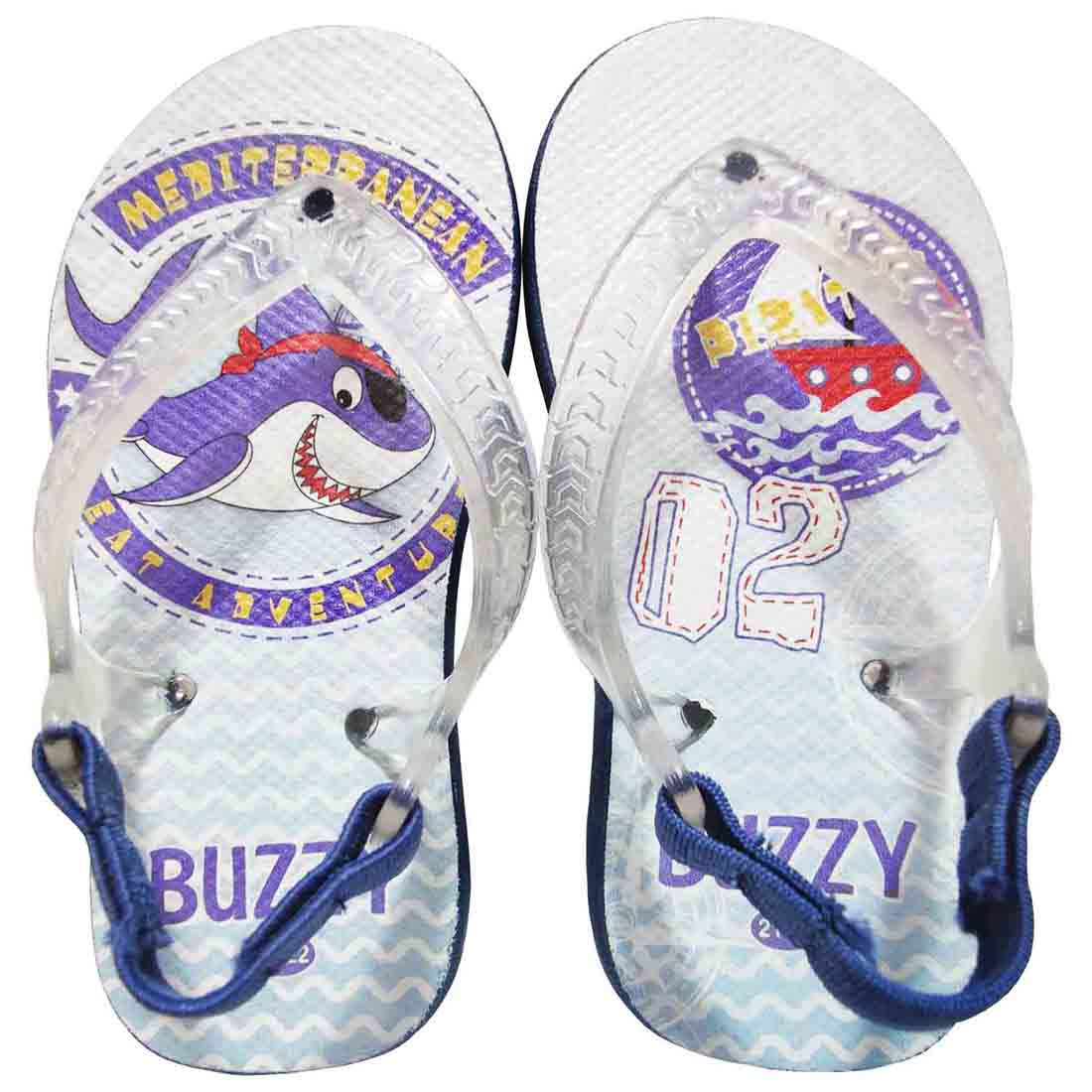 Chinelo Bebê Buzzy Sandália Infantil Tubarão Meninos BZ011