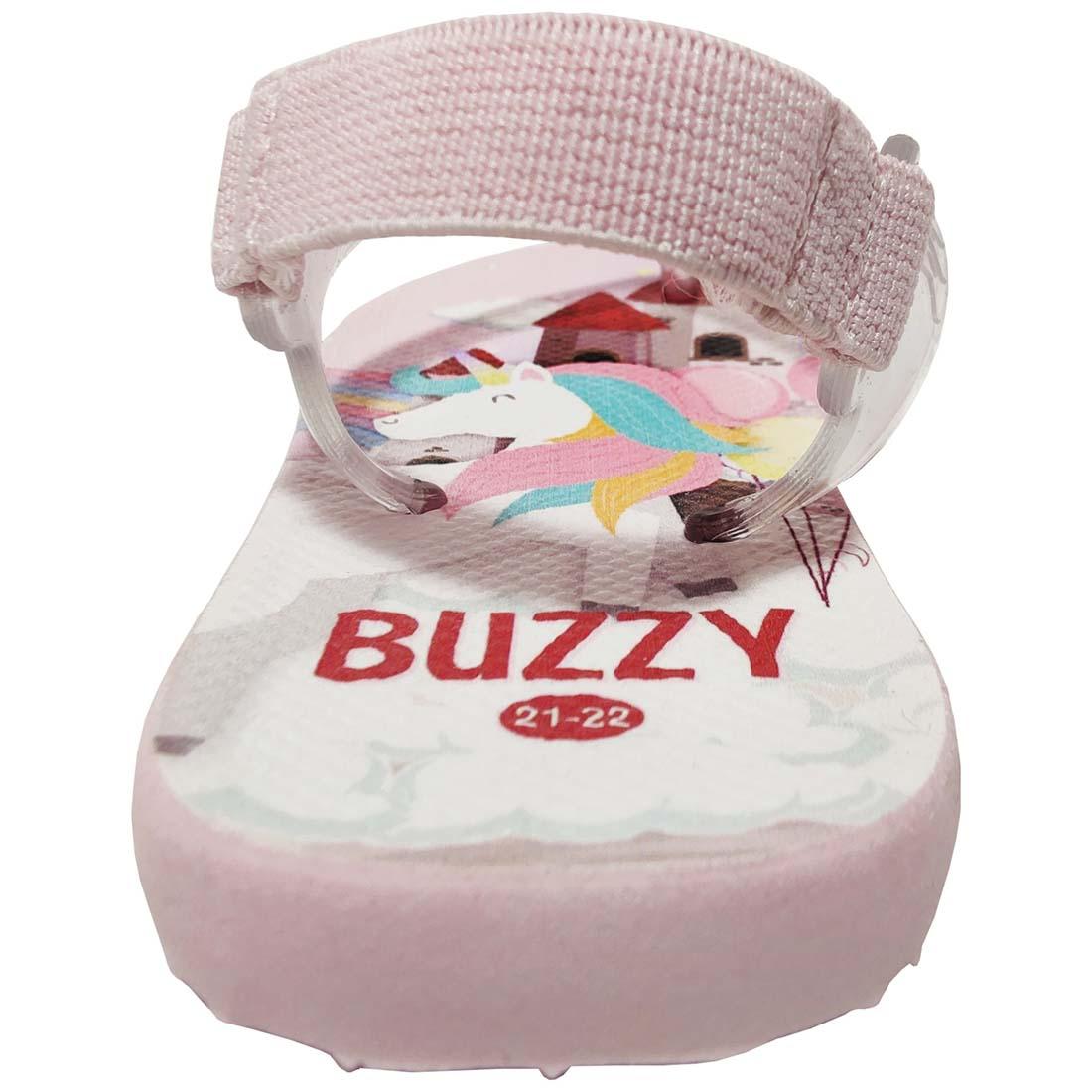 Chinelo Bebê Buzzy Sandália Infantil Unicórnio Meninas BZ024