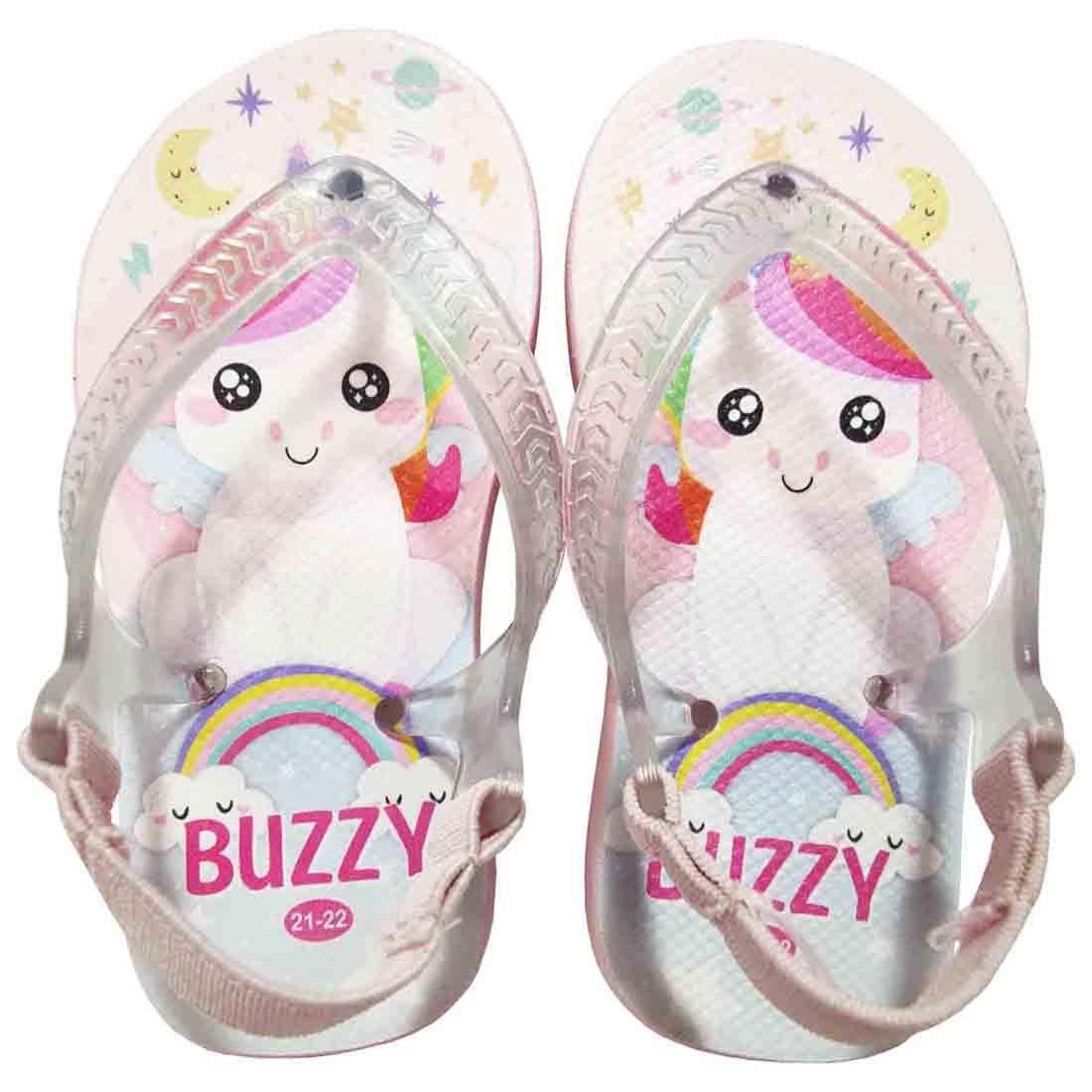 Chinelo Buzzy Sandália Infantil Unicórnio Bebê Meninas BZ030