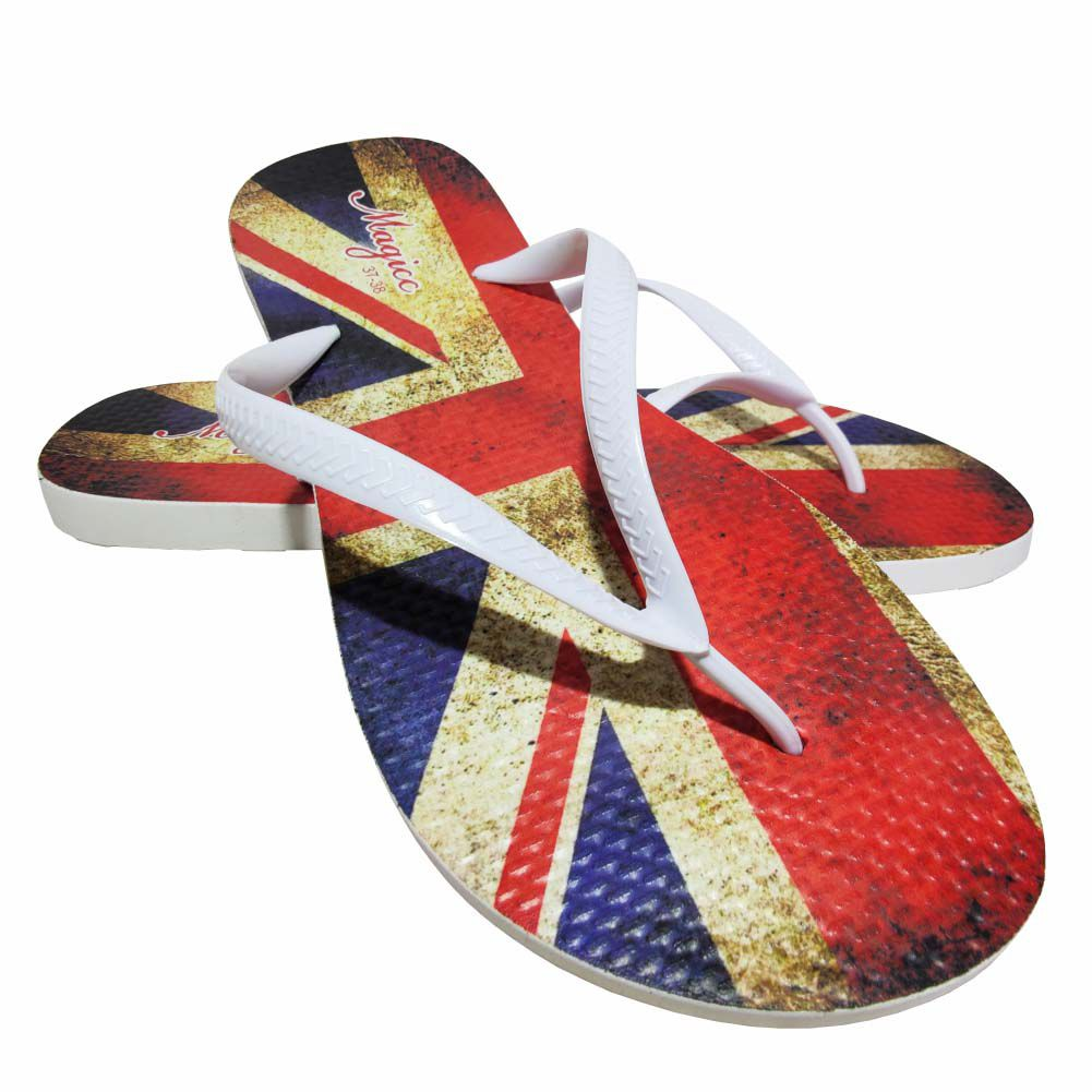 Chinelo Casual Feminino Bandeira do Reino Unido, Magicc