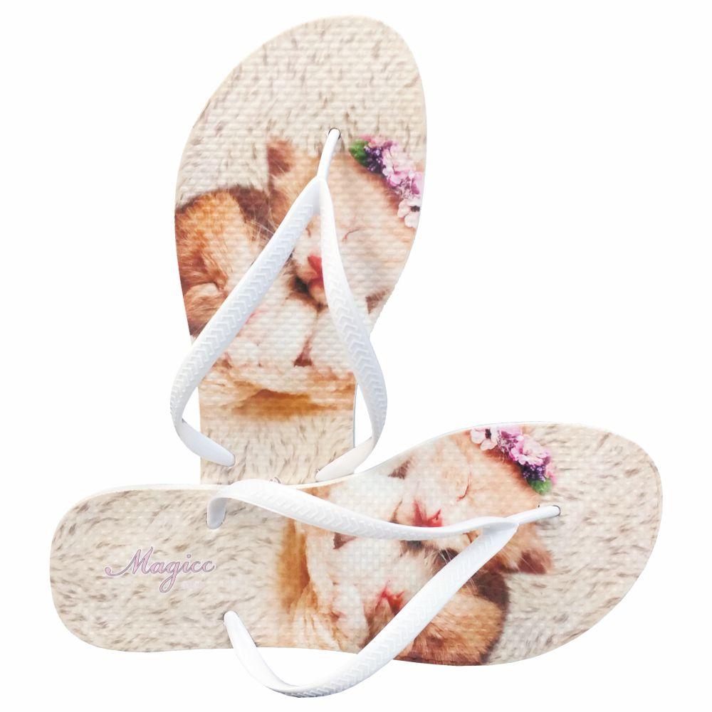 Chinelo Pet Feminino Gatinhos, Magicc
