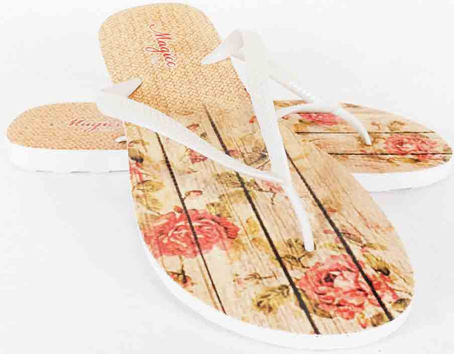 Chinelo Tropical Feminino Floral, Magicc