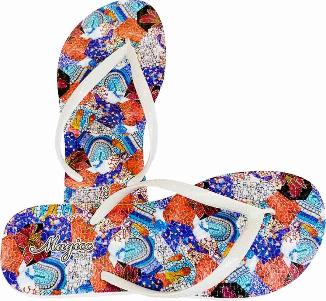 Chinelo Feminino Casual Mosaico, Magicc