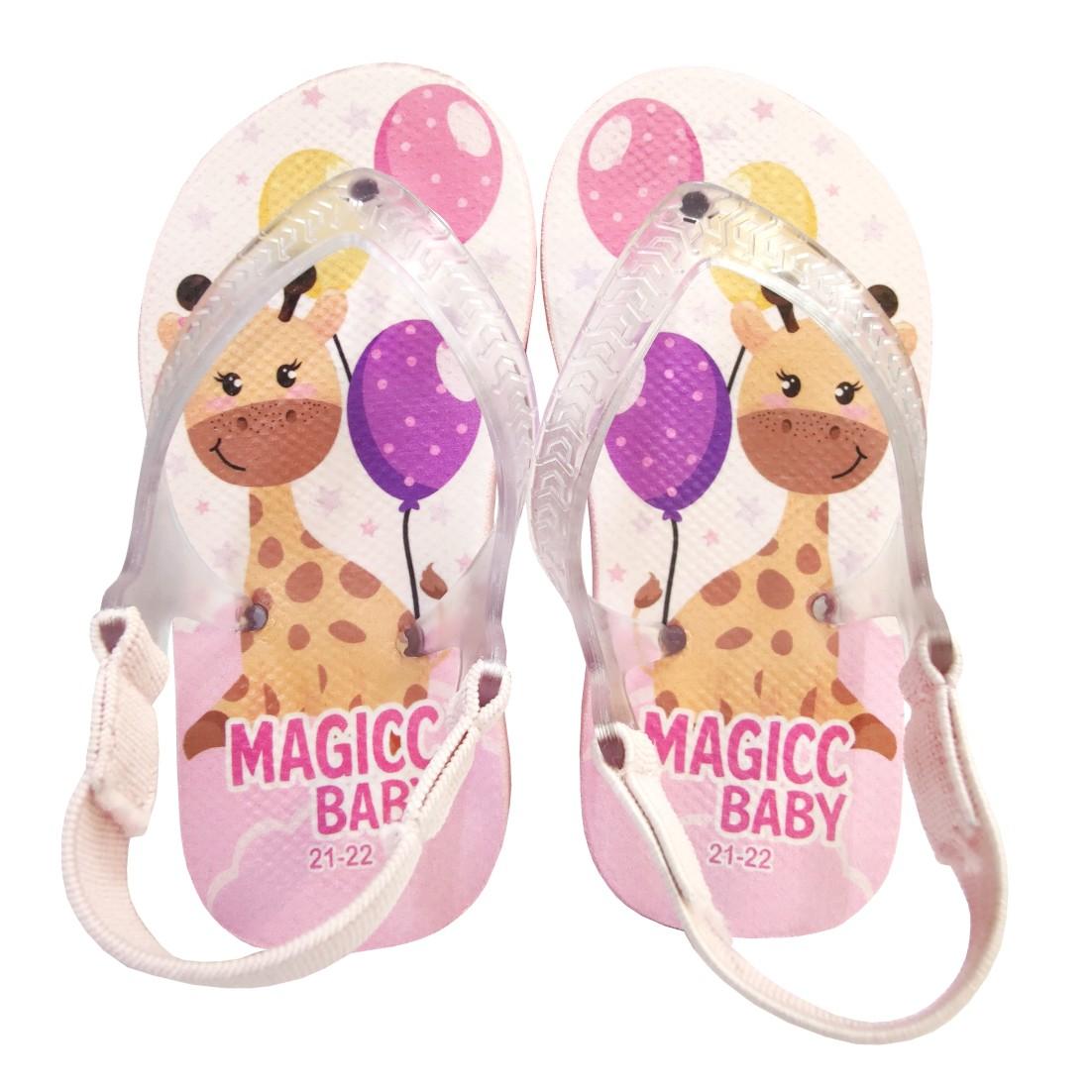 Chinelo Menina Bebê Sandália Girafinha Magicc Baby