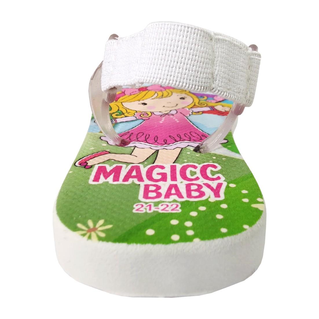 Chinelo Menina Bebê  Sandália Infantil Menininha Magicc Baby