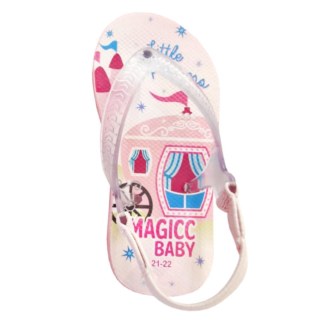 Chinelo Menina Bebê Sandália Princesinha Carruagem Magicc Baby