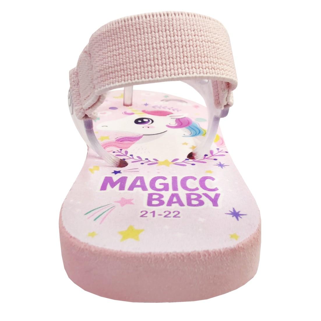 Chinelo Menina Bebê Sandália Unicórnio Magicc Baby
