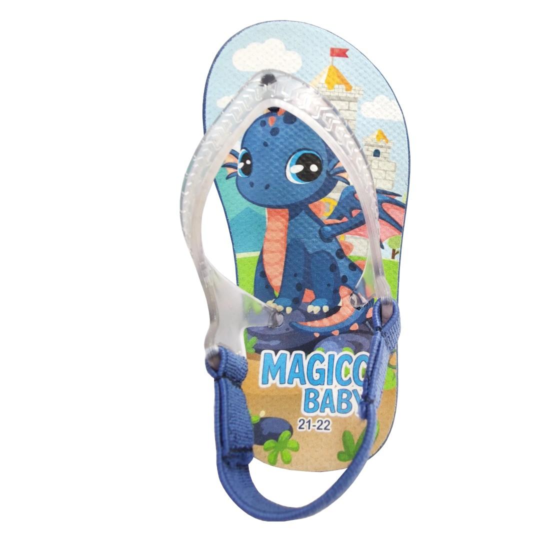 Chinelo Menino Bebê Sandália Dragão Azul Magicc Baby