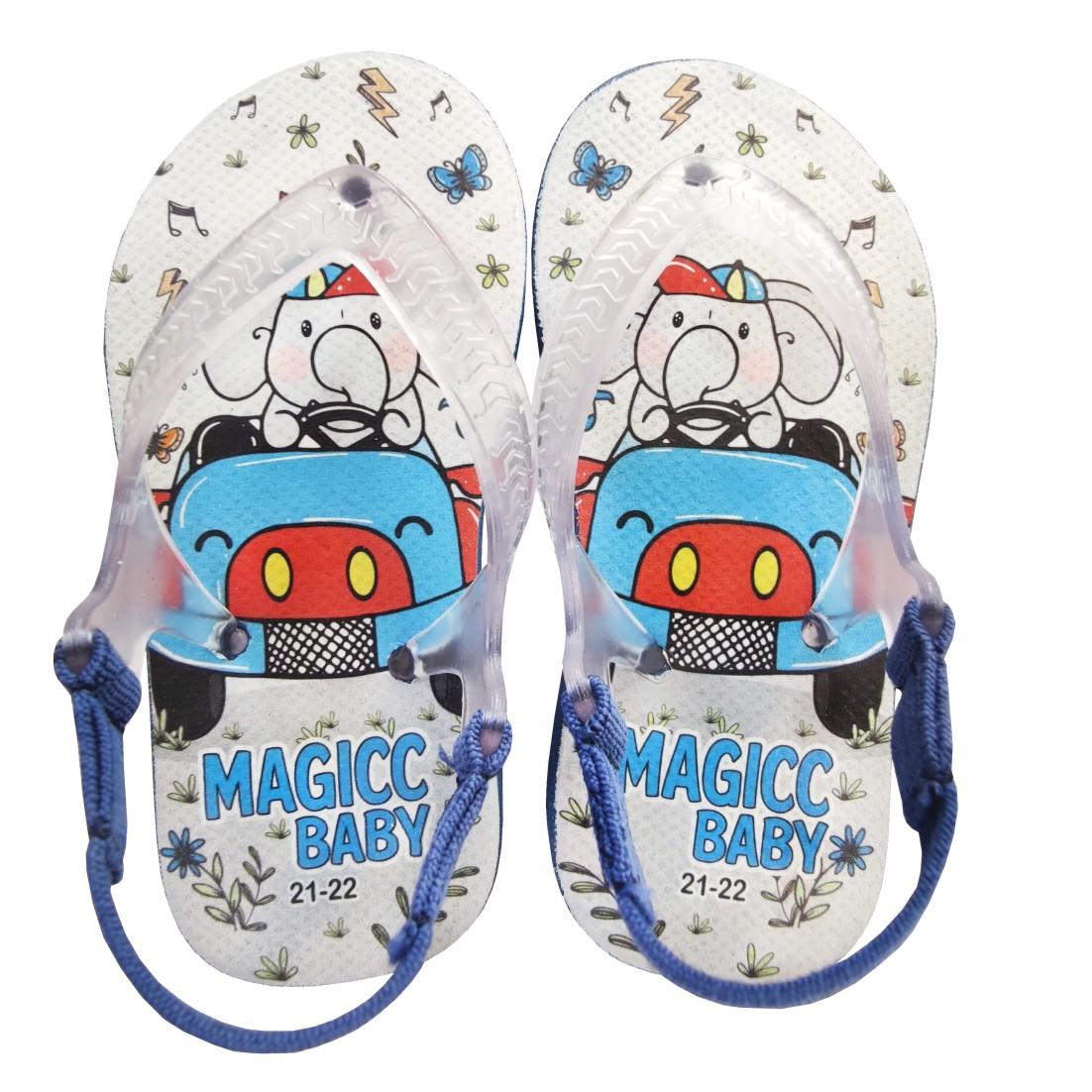 Chinelo Menino Bebê Sandália Elefante Carrinho Magicc Baby