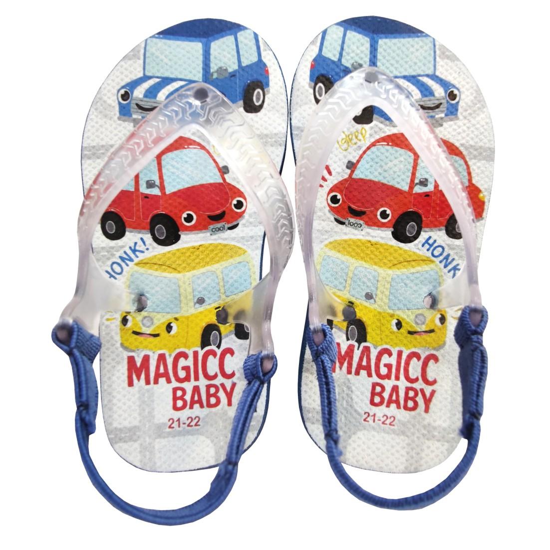 Chinelo Menino Bebê Sandália Super Carros Magicc Baby