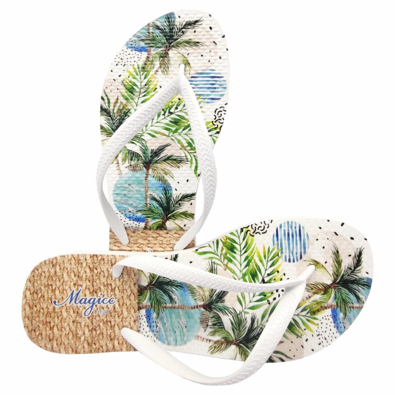 Chinelo Tropical  Feminino Coqueiros Tropicais, Magicc
