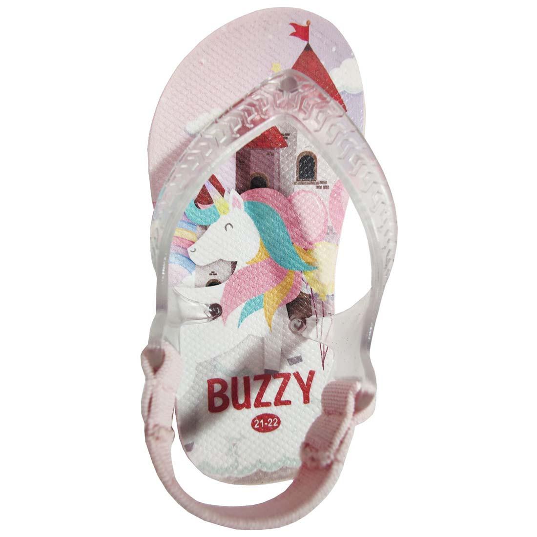 Kit 12 Prs Chinelo Infantil Unicórnio Sandália Bebê Atacado BZ024