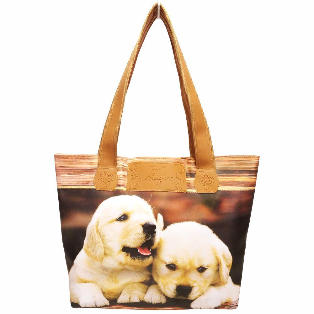 Kit Feminino Pet Cachorrinhos com Bolsa, Necessaire e Chinelo, Magicc