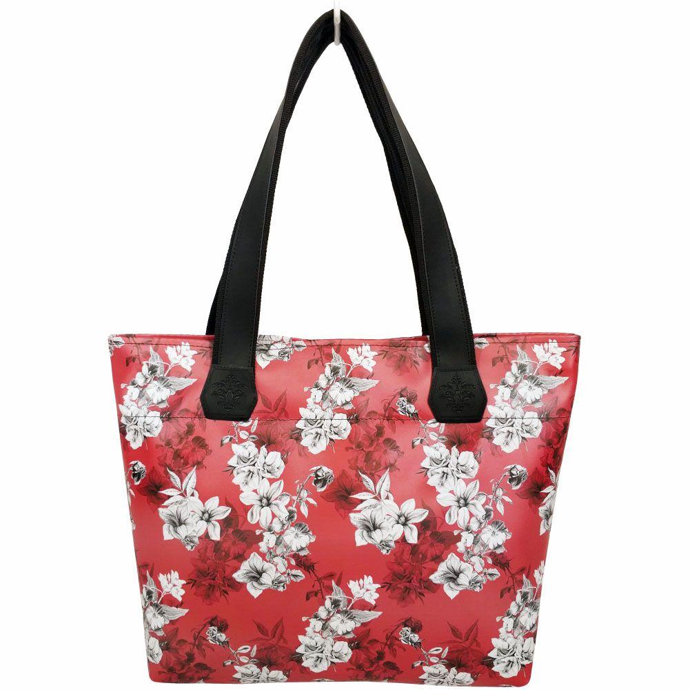 Kit Feminino Tropical Flores com Bolsa, Necessaire e Chinelo, Magicc