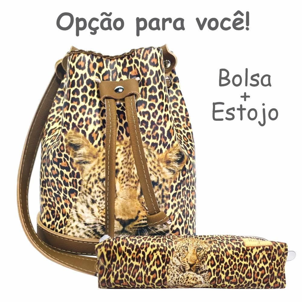 Kit Feminino Infantil Oncinha com Bolsa e Estojo, Magicc