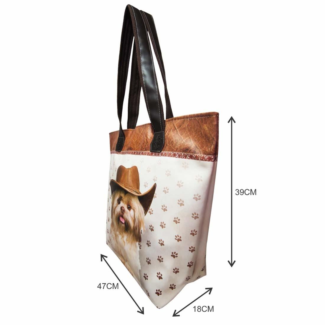 Kit Pet Feminino Cachorro com Chapéu com Bolsa, Necessaire e Chinelo, Magicc