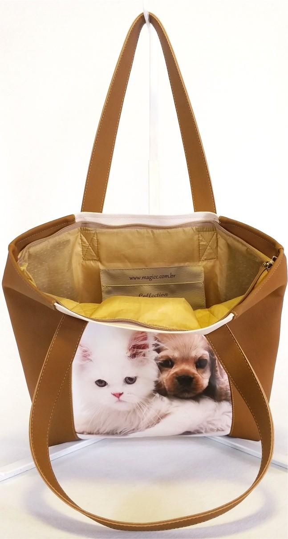 Kit Pet Feminino Friends com Bolsa, Necessaire e Chinelo, Magicc