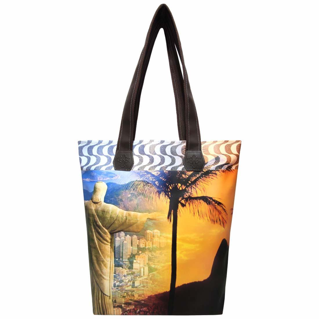 Kit Praia Feminino Rio de Janeiro com Bolsa, Necessaire e Chinelo, Magicc