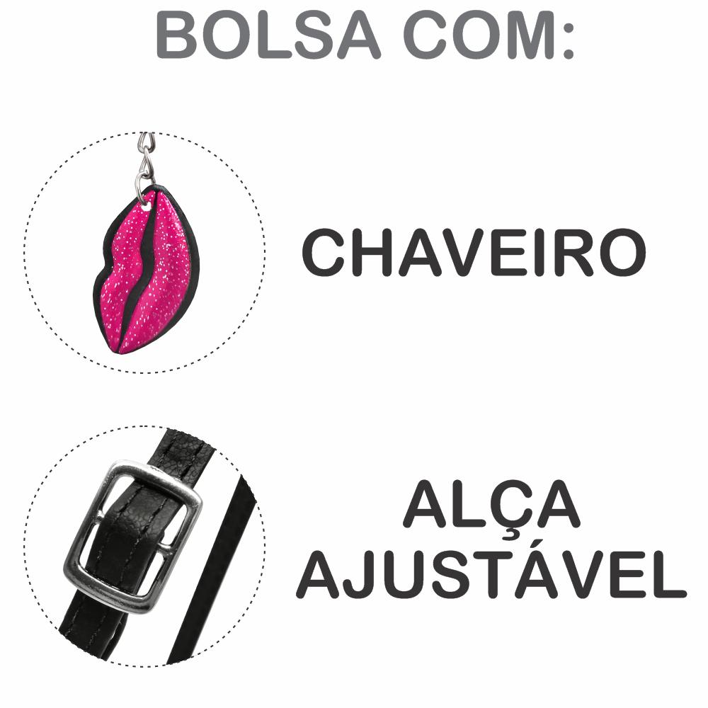 Kit Infantil Bolsa e Estojo Beijo Pink, Magicc