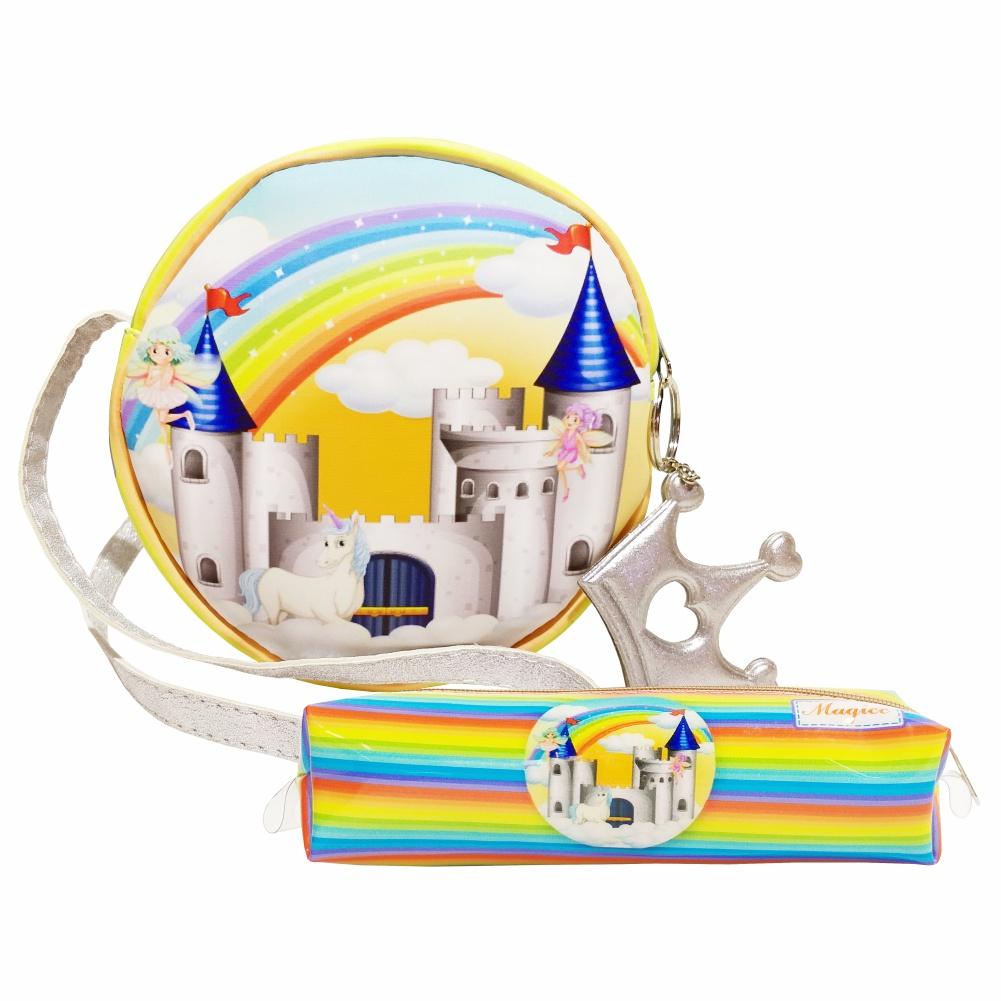 Kit Infantil Bolsa e Estojo  Castelo Encantado, Magicc Bolsas