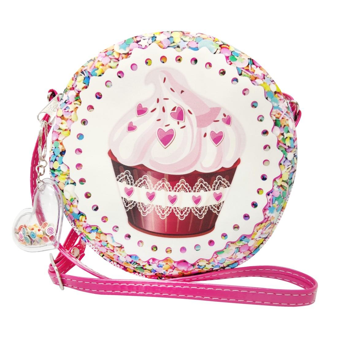 Kit Infantil Bolsa e Estojo Cupcake, Magicc